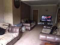 SCS Sofa set 3 seater sofa X2 & one 4 seater sofa £400 for full set