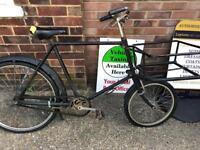 Vintage shop delivery bike