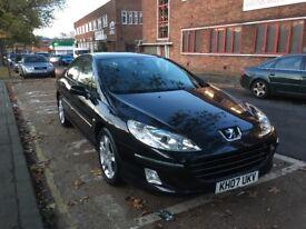 Peugote 407 black diesel 1 previous owner £1300