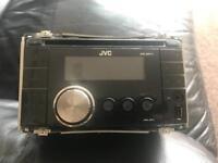 JVC KW XR411 double din stereo - usb,aux&cd