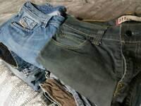 Diesel and Calvin klein jeans.levis..