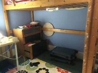 Real Wood IKEA Single Loft Flying Bed High Sleeper Cabin Bunk Mezzanine delivery