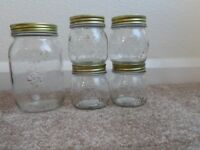 Lovely glass jars with screw on lids