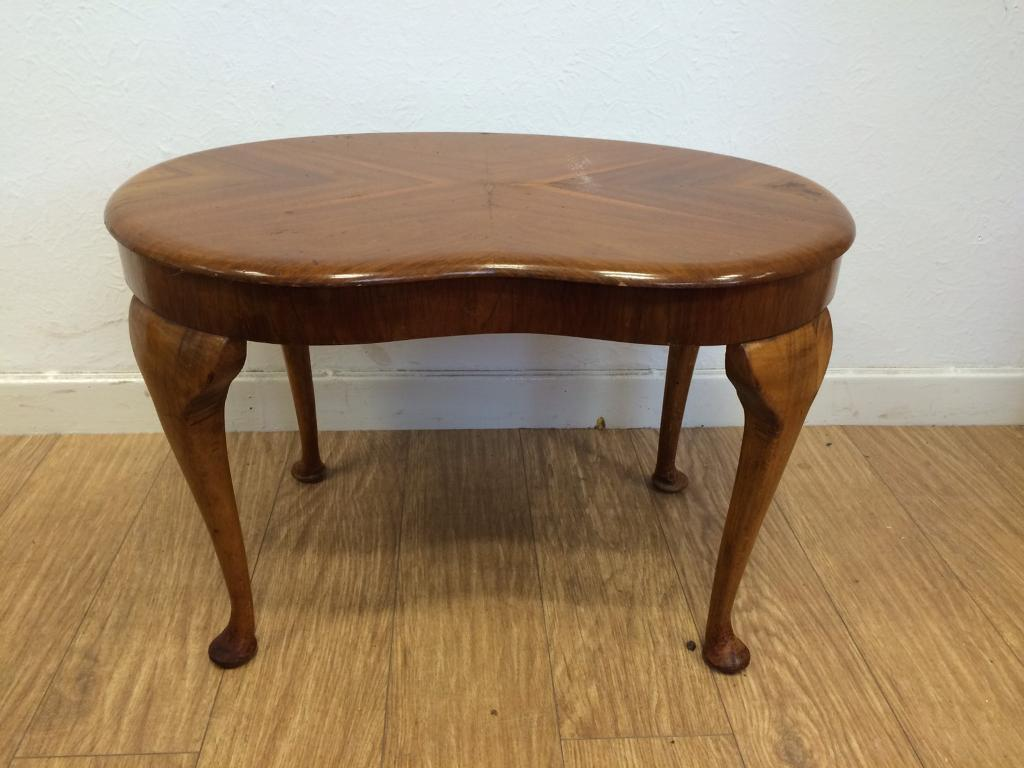Vintage Queen Anne kidney shaped table