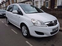 PCO 2012 VAUXHALL ZAFIRA WHITE COLOR FOR SALE