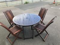 Wooden garden furniture set chairs table cheap office Harlow Essex London free