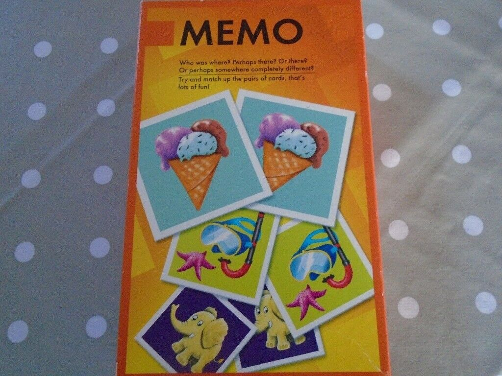 MEMO Picture card game in excellent condition.
