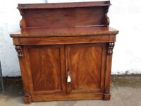 VICTORIAN ROSEWOOD CHIFFONIER VERY NICE PIECE COMPLETE WITH TOP AND ORIGINAL KEY LOCAL DELIVERY