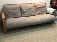 Solid Oak Double Futon Bed