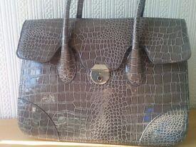 Large grey ASOS handbag
