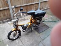 Raliegh wisp moped 1967 very good condition