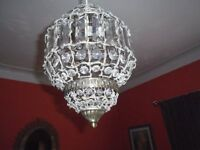 Round Beaded Lampshade (Moroccan Style)