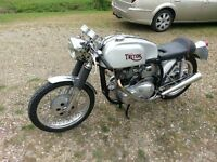 Triton, built 1965 - Manx Norton frame, T120 Bonnie engine - nice machine