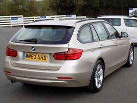 BMW 3 SERIES 320D XDRIVE SE TOURING 5dr AUTO * Sat Nav & Leathe (silver) 2013