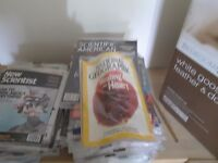 Unopened science magazines, hundreds, New Scientist etc