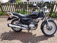 Yamaha YBR 125 Custom, black, excellent condition