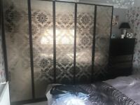 Dark brown damask wardrobes chest of drawers bedroom furniture