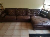Italian Leather 5 Seater L Sofa 250 ONO