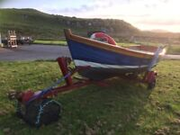 Orkney longliner boat with outboard