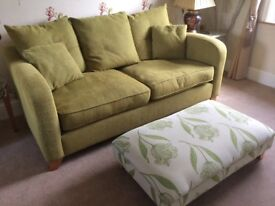 2yrs old 3seater sofa with large footstool