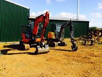 Digger and driver for hire Northampton