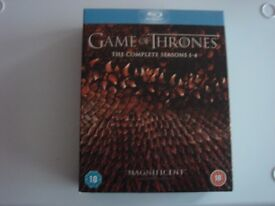 GAME OF THRONES (BLU RAY) BOX SET SEASONS 1- 4 IN EXCELLENT CONDITION.
