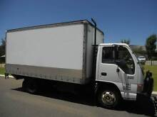 Isuzu NPR 300 Pantech with Tukaway Tailgate Loader Welshpool Canning Area Preview