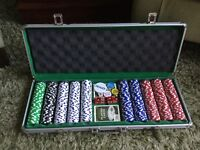 Large Poker set in case.