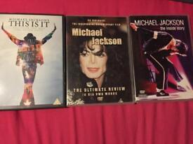 3micheal Jackson dvds