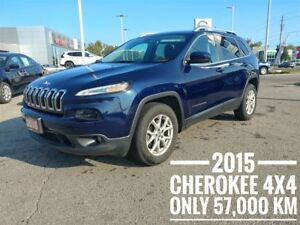 2015 Jeep Cherokee North 4x4 4 CYL FREE Delivery