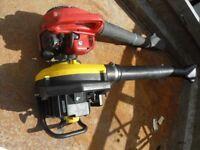 2 x garden blower petrol spares or repair 1 working 1 spares or repair