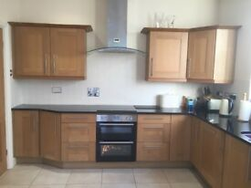 Kitchen Cabinets / granite worktop and Baumatic appliances for sale - excellent condition