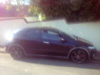 Black Honda Civic, EX-I VTEC, 1.8 petrol, manual, SATNAV, 6 gear, hands free..