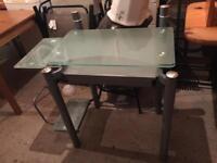 Glass desk