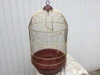 Birdcage, brass coloured metal