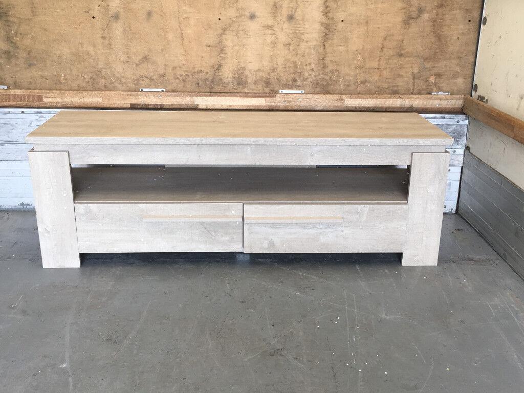 Tv Unit Tv Cabinet Shelf 2 Drawers Living Room