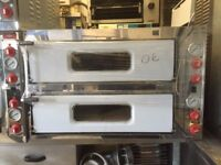 "NEW ITALIAN DOUBLE DECK PIZZA OVEN 8 X 13"" CAFE KEBAB CHICKEN TAKE AWAY BAKERY RESTAURANT KITCHEN"