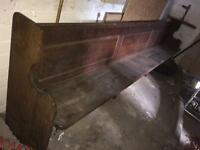 Church pews 11 FOOT solid oak