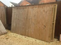 Bespoke made heavy duty fence panels. 6 no. 2.8m wide x 1.8m high