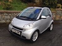 2010 Smart Fortwo Passion Mhd Auto Convertible. LOW MILES