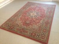 Ikea Modern Large Persian Rug Size 195cm x 133cm Mainly Red in Colour VGC