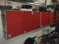 Clarke wall cabinet workshop garage x 2