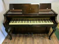 Lovely Art Deco Dark Oak 'John Brinsmead' Upright Console Piano - CAN DELIVER