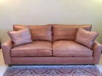 Genuine soft leather sofa - Large 2-seater + Single chair