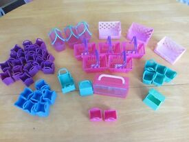 Shopkins baskets, cases and Holders