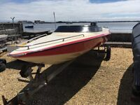 Speed Boat with 85hp Two Stroke Engine with Trailer