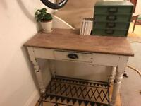 Victorian pine desk or small table