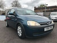 2001 VAUXHALL CORSA 1.2 COMFORT *8 MONTHS MOT + TIMING BELT CHANGED*
