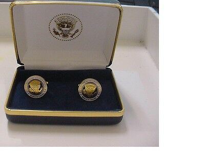 Pair of  unusual presidential barack obama cufflinks