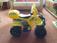 Child quad bike (electrical) 3-5 years